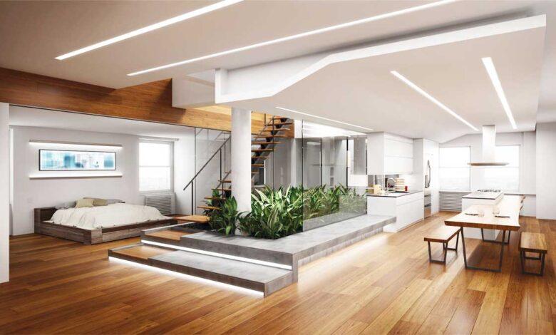 معماری داخلی نور مخفی